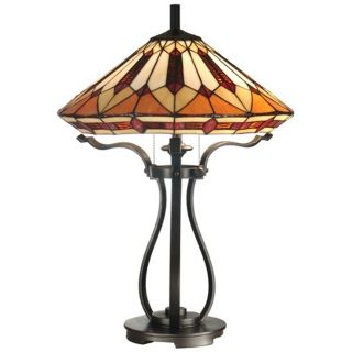 Black Harp Dale Tiffany Table Lamp   #X3240