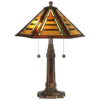 Grueby Golden Sand Dale Tiffany Table Lamp   #X2871