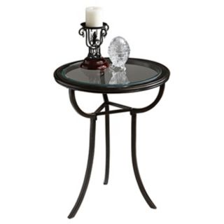 Loft Collection Beveled Glass Top Accent Table   #M3973