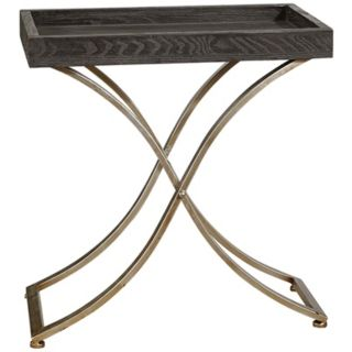 Uttermost Valli Ebony Stained Box Tray Accent Table   #T8097