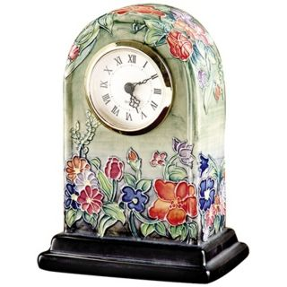 Dale Tiffany Flower Garden Hand Painted Porcelain Clock   #X5544