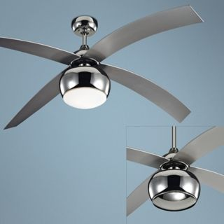 "60"" Monte Carlo Vios Nickel Ceiling Fan with Light Kit   #R2721"