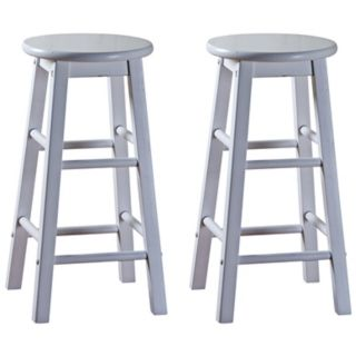 Zuo Butcher White Adjustable Height Bar or Counter Stool