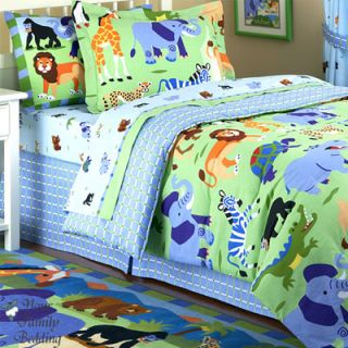 Jungle Safari Boy Children Kid Comforter Bedding Set Twin Full Queen
