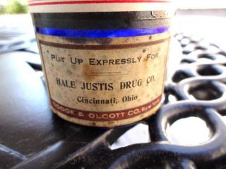 RARE 1900 Cincinnati Ohio Tincture of Iodine Cobalt Blue Corked Glass
