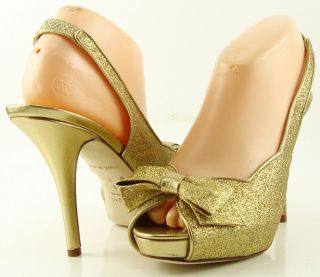 Kate Spade Giada Gold Glitter Wedding Womens Designer Shoes Platform