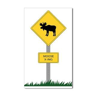 Moose Crossing Stickers  Car Bumper Stickers, Decals