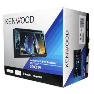 Kenwood DDX419 Double DIN DVD/CD//iPod/iPhone/USB Receiver   Brand