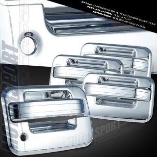 FORD F150 CHROME DOOR HANDLE COVER W/O PASSENGER SIDE KEY HOLE W/O KEY