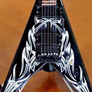 Miniature Guitar Kerry King Slayer Metal Master V