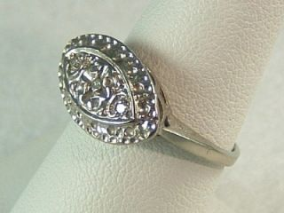 Kohinoor 10K Gold Diamond Edwardian Art Deco White Gold Ring 2 7gr