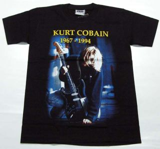 Retro Rock Kurt Cobain Nirvana 1967 1994 T Shirt M L XL