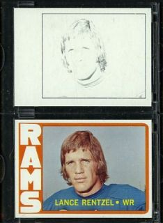 1972 Topps Football Proof Cards Lance Rentzel Rams