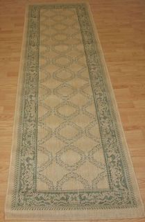 New Indoor Outdoor Rug Garden Lattice Green Sage Tan Couristan 2x8