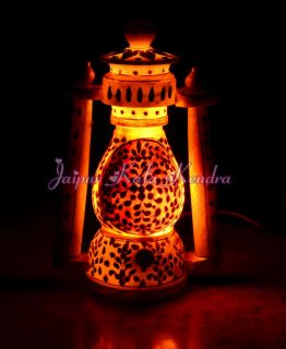Marble Lantern Handicraft Handmade Art Royal Decorative Lamp Indian