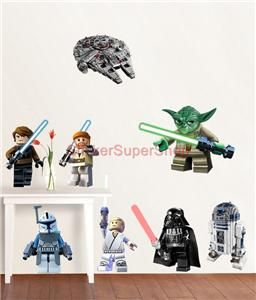 Lego Star Wars 11 Characters Decal Removable Wall Sticker Home Decor