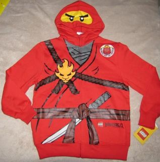 Lego Ninjago Red Ninja Fleece Zipper Hoodie Sweater Sweatshirt Costume
