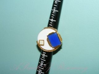 Lee Angel Maurice Max Ring Large Art Deco Lapis Lazuli Stone Size 6