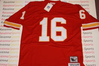 Len Dawson Autographed Kansas City Chiefs Red Throwback Jersey HOF SB