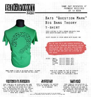 Big Bang Theory Bats Riddler T Shirt Penny Leonard SC Fi DVD TV
