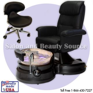 Lenox Pedicure Spa Unit Foot Chair Heated Glass Bowl