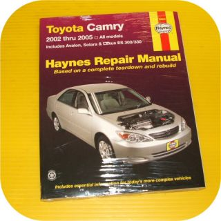 to enlargeRepair Manual Book Toyota Camry Avalon Lexus ES 300 330