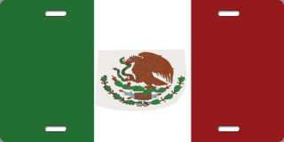 Mexico Mexican Flag Aluminum Auto License Plate Car Truck Tag Metal