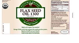 Natural Brand Flax Seed Oil 1300