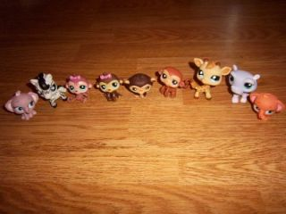 Littlest Pet Shop Safari Animals Lot Monkeys Elephants Zebra Giraffe