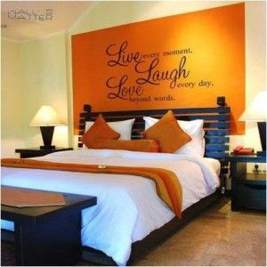 Home Decor Decal Vinyl Wall Sticker Wall Quote Decals  Live Laugh Love