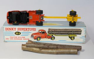 French Dinky Toys 36A 897 Willeme Log Truck NMIB