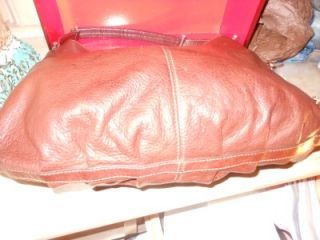 Liz Claiborne Brown Leather Hobo Handbag Purse