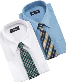 Izod Kids Set, Boys Shirt and Tie Set   Kids Boys 8 20