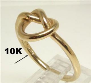 CUSTOMIZABLE UNIQUE NEW LOVE KNOT 10 KARAT YELLOW GOLD FEMALE RING