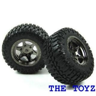 Mini T Desert Truck 18T Monster Tire Black Chrome Rim by Losi LOSB1080