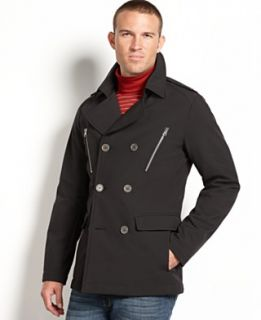 Buffalo David Bitton Jacket, Soft Shell Double Breasted Jacket