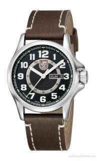 Luminox Field Automatic Black Dial Brown Leather Mens Watch 1801