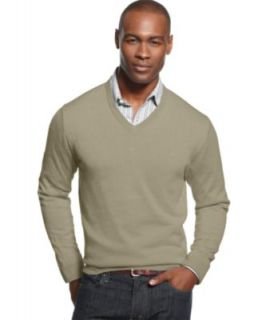 Izod Sweater, Fine Gauge V Neck Sweater   Mens Sweaters