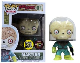 2012 SDCC Mars Attacks Martian Glow POP Vinyl Figure 4 Funko Comic