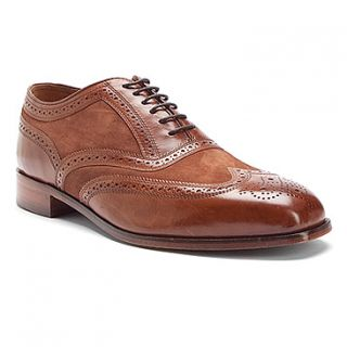 New in Box Florsheim Mens Marlton Wing Tip Dress Shoe Cognac Leather