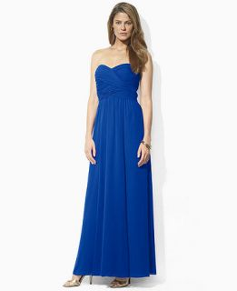 Lauren Ralph Lauren Petite Dress, Strapless Sweetheart Gown   Womens