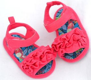 Pink Mary Jane Infant Soft Sole Kids Toddler Baby Girl Shoes Sandals 3