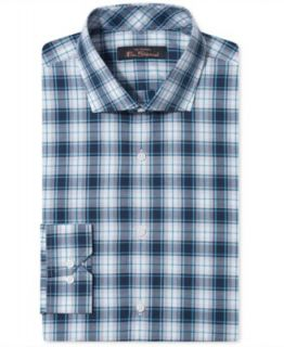 Ben Sherman Dress Shirt, Slim Fit Plaid Long Sleeve Shirt
