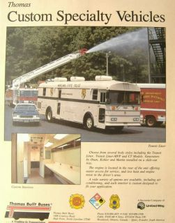 Thomas Maryland State Police Transit Liner Bus Ad