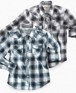 GUESS Kids Shirt, Boys Dakota Plaid Shirt   Kids Boys 8 20