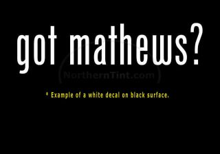 Got Mathews Vinyl Wall Art Truck Car Decal Sticker