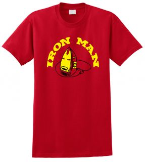 Funny Iron Man T Shirt Marvel Cool Super Hero