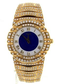 Piaget Tanagra 18K Yellow Gold Diamond 34mm Mens Watch