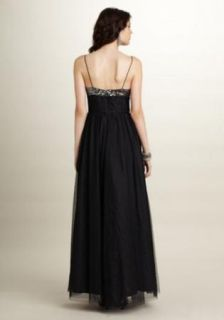 Adrianna Papell Sequin Black Mesh Ball Gown 12