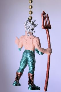 Merman Mermaid King Fish Novelty Home Decor Ceiling Fan Light Pull
